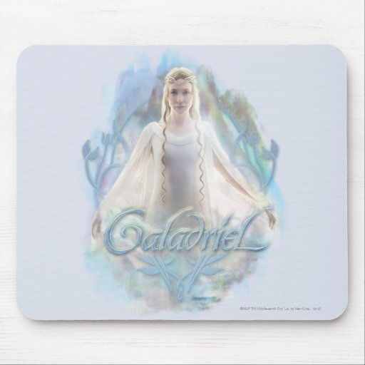 Galadriel With Name Mouse Pad
