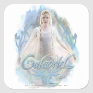 Galadriel With Name Square Sticker