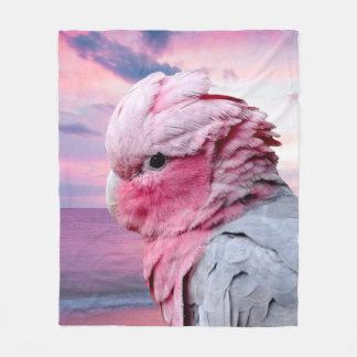 Galah Cockatoo Fleece Blanket