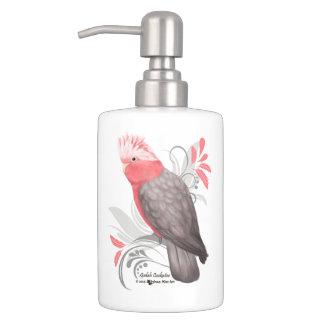 Galah Cockatoo Soap Dispenser And Toothbrush Holder