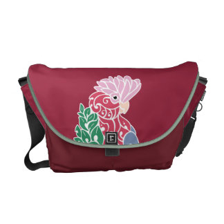 Galah cockatoo tribal tattoo rose-breasted parrot courier bag