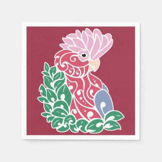 Galah cockatoo tribal tattoo rose-breasted parrot paper napkin