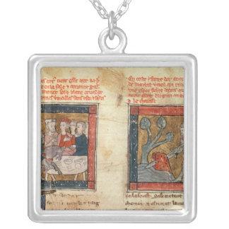 Galahad comes to Arthur Square Pendant Necklace
