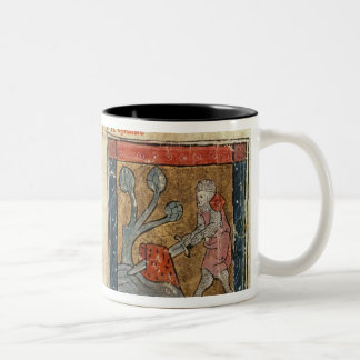 Galahad comes to Arthur Two-Tone Coffee Mug