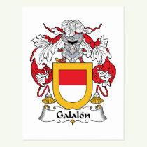 Galalon Family Crest Postcard