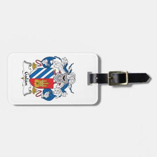 Galan Family Crest Luggage Tag