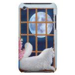Galán la caja de la mota del gato del angora Case-Mate iPod touch carcasas