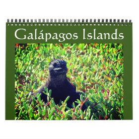 galapagos animals 2021 calendar
