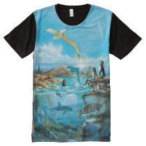 Galapagos Animals All-Over Print T-Shirt