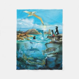 Galapagos Animals Small Fleece Blanket