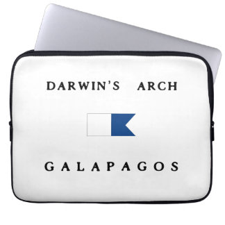 Galapagos Darwin's Arch Alpha Dive Flag Computer Sleeves
