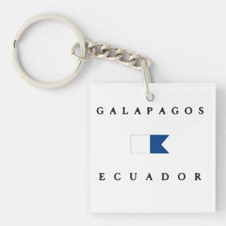 Galapagos Ecuador Alpha Dive Flag Keychain
