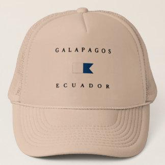 Galapagos Ecuador Alpha Dive Flag Trucker Hat