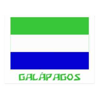 Galápagos flag with Name Postcard