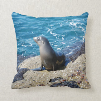 Galapagos Fur Seal Throw Pillow