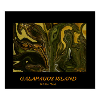 GALAPAGOS ISLAND.....Save our planet series Poster