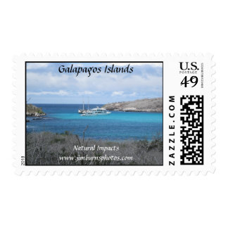 Galapagos Islands Beach Postage Stamps