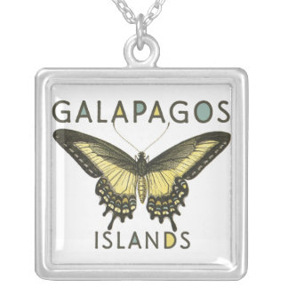 Galapagos Islands butterfly necklace