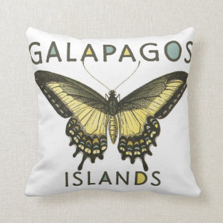 Galapagos Islands Butterfly Pillow