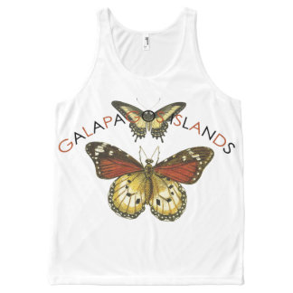 Galapagos Islands Butterfly Tank Tops All-Over Print Tank Top