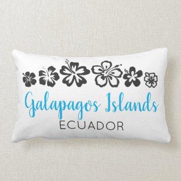 Galapagos Islands Ecuador Souvenir Turquoise Lumbar Pillow