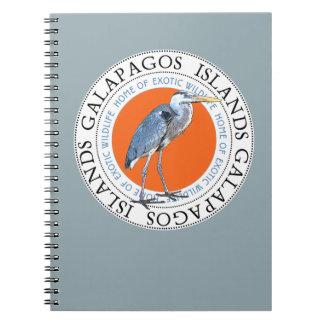 Galapagos Islands Great Blue Heron Notebook Journa
