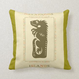 Galapagos Islands Iguana Throw Pillow
