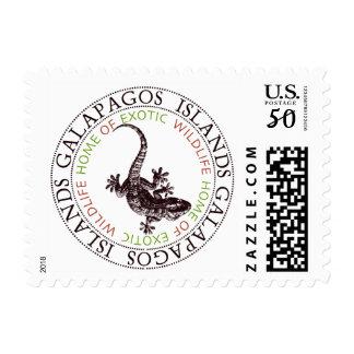 Galapagos Islands Lizard Postage Stamp