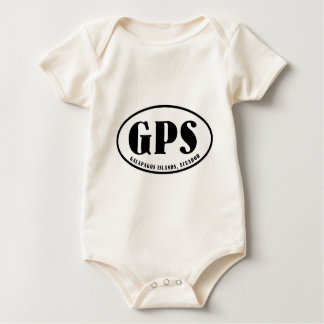 Galapagos Islands map and airport code Baby Bodysuit