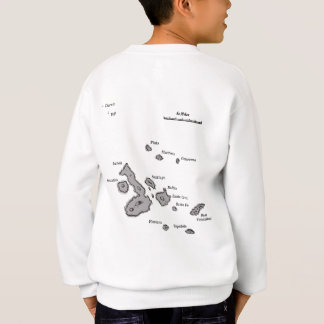 Galapagos Islands map and airport code Sweatshirt