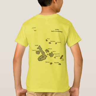 Galapagos Islands map and airport code T-Shirt
