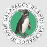 Galapagos Islands Penguin Classic Round Sticker