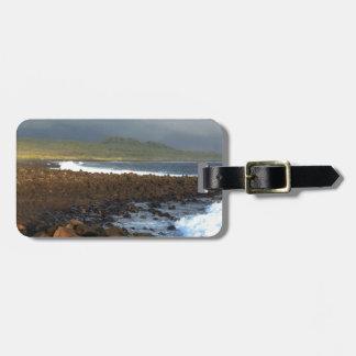 Galapagos Islands volcanic coastline Tag For Luggage