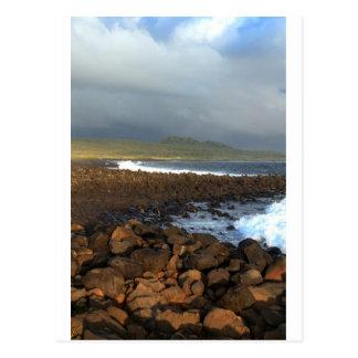 Galapagos Islands volcanic coastline Postcards