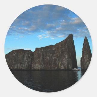 Galapagos - Kicker Rock at Sunset Classic Round Sticker