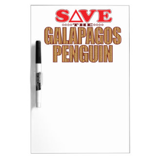 Galapagos Penguin Save Dry Erase Board