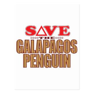 Galapagos Penguin Save Postcard