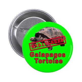 Galapagos Tortoise  Endangered Art Tshirts Pinback Button