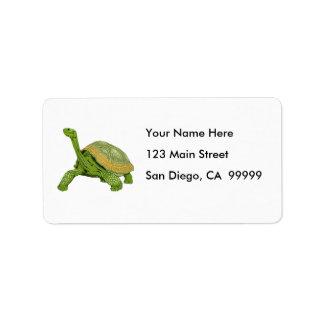 Galapagos Tortoise Label
