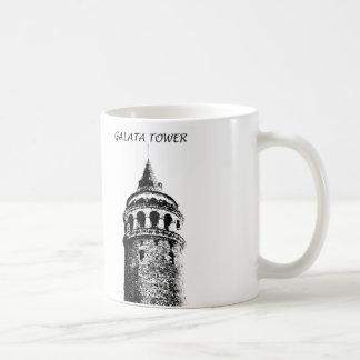 Galata Tower Figure Mug Black and White İstanbul