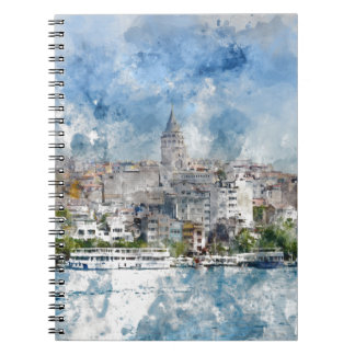 Galata Tower in Istanbul Turkey Notebook
