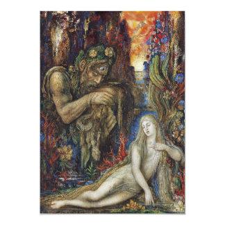 Galatea, arte del Symbolist de Gustave Moreau Invitación 12,7 X 17,8 Cm