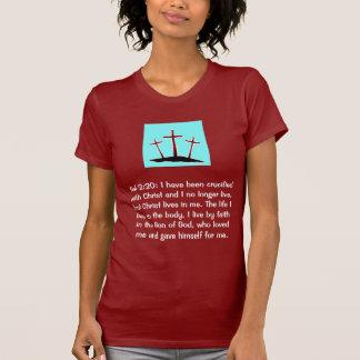 Galatians 2:20 Calvary Dark T-Shirt