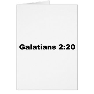 Galatians 2:20 greeting cards