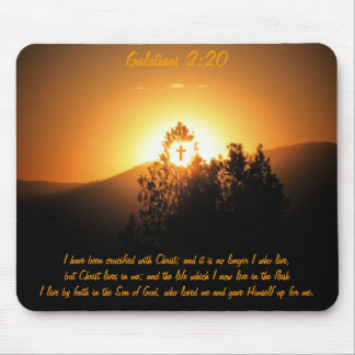 Galatians 2:20 Crucified With Christ Mouse Pad