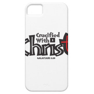 Galatians 2:20 on black/red on white. iPhone SE/5/5s case