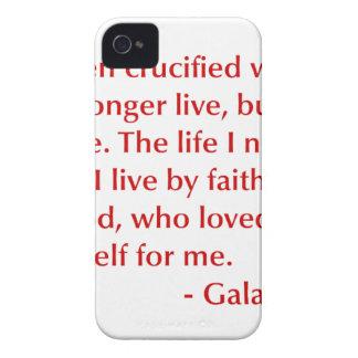 Galatians--2-20-opt-burg.png Case-Mate iPhone 4 Cases