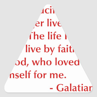 Galatians--2-20-opt-burg.png Triangle Sticker
