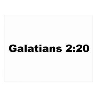 Galatians 2:20 postcard