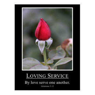 Galatians 5:13 Serve others with love Postcard
